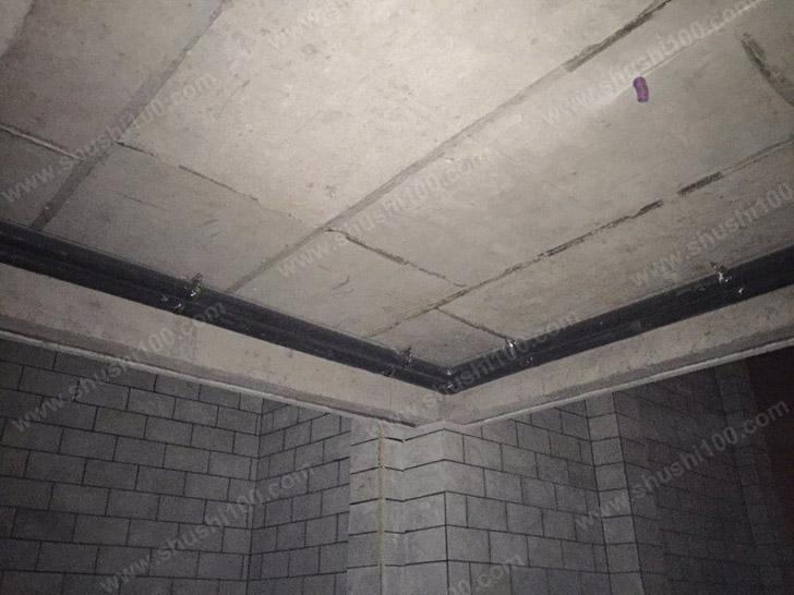 中央空调施工图 贴墙壁走管