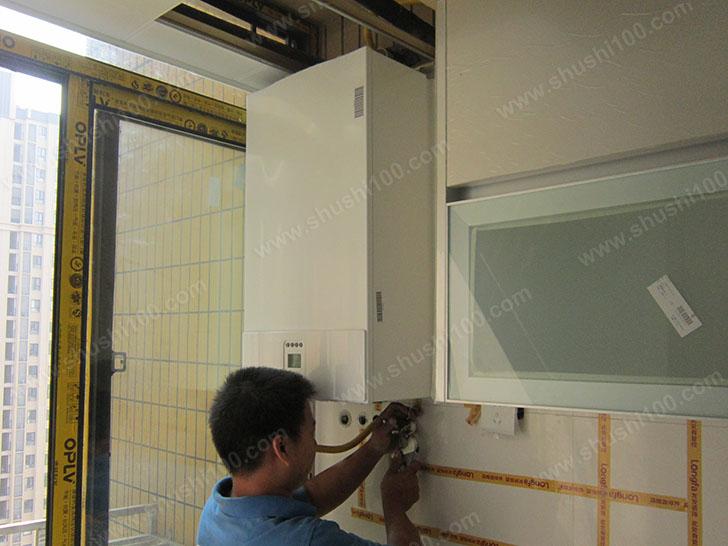 地暖施工图 壁挂炉安装