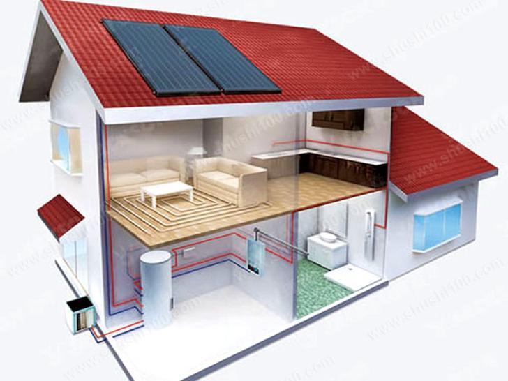 上海虹盛小区太阳能安装效果图