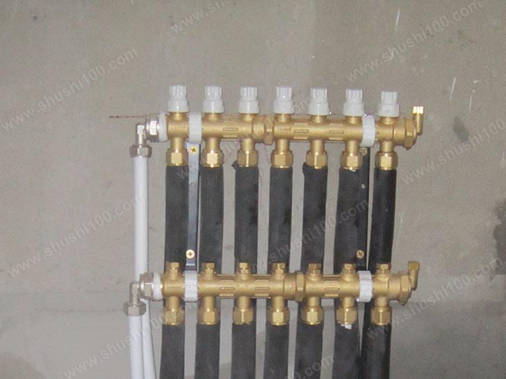 暖气片施工图 安装分集水器