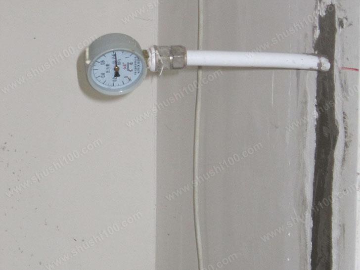 暖气片施工图 打压测试