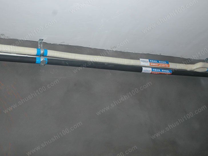 中央空调施工图 布管整齐
