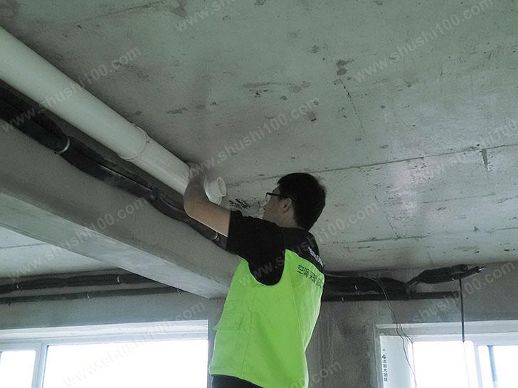 松下新风施工图 新风管道施工