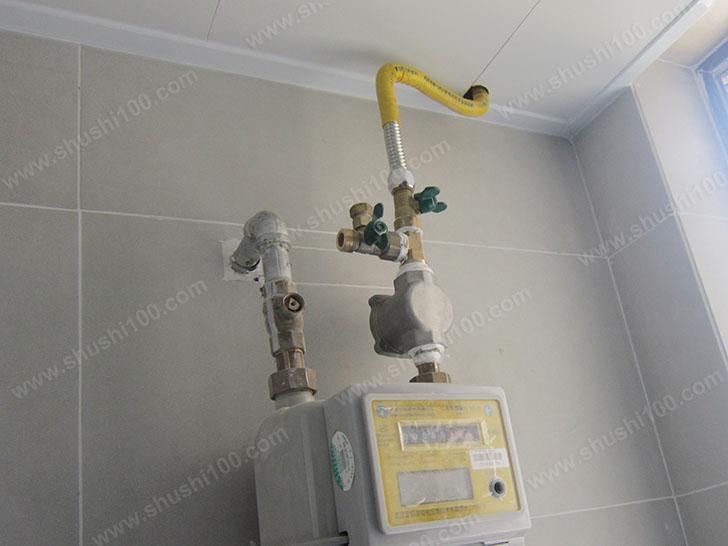 地暖施工图 壁挂炉管线安装