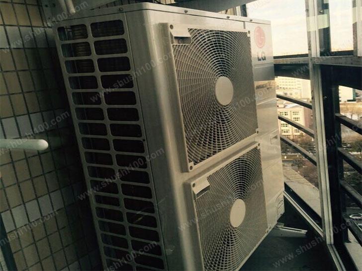 中央空调室外机安装完毕