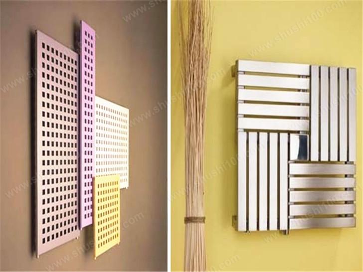 暖气片装修效果图 色彩斑斓的网格暖气片展示