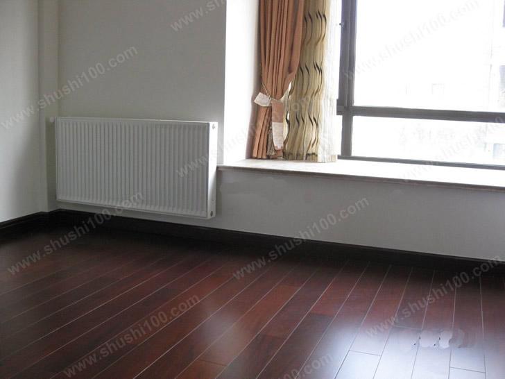 家庭采暖施工完成图 暖气片地暖复合式安装