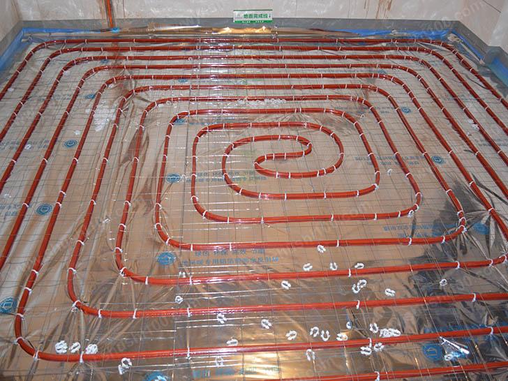 地暖施工图 铺设房间地暖管