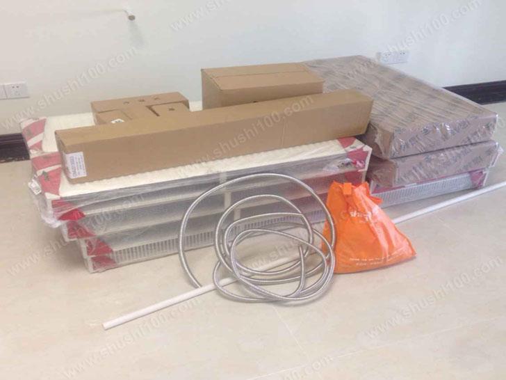 家庭采暖材料进场图 设备堆放整齐