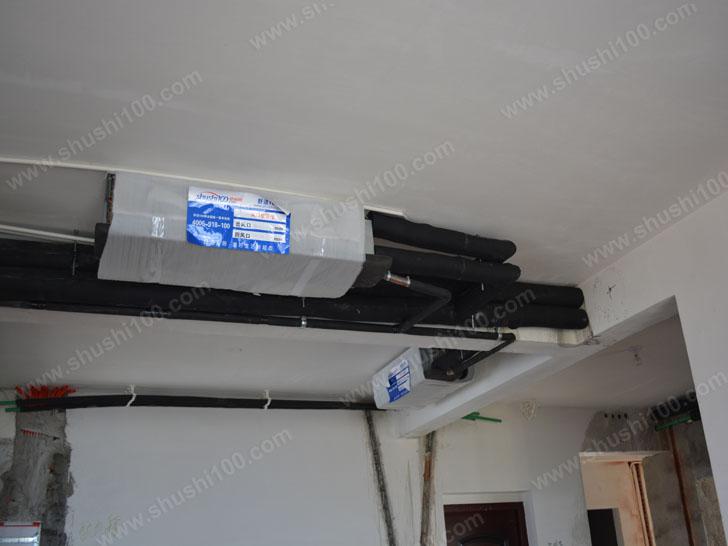 中央空调施工图 室内机安装到位