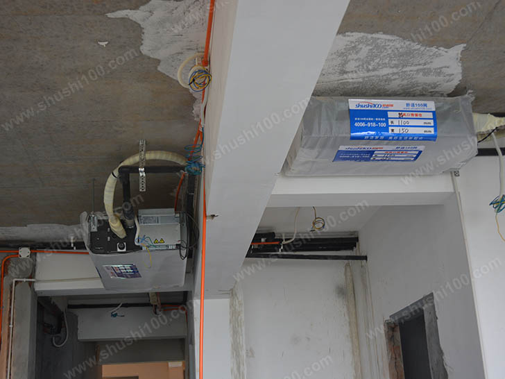 中央空调施工图 主机安装整齐