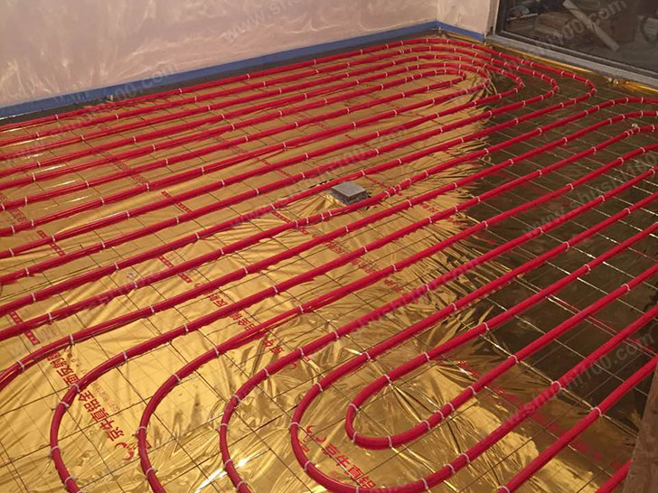地暖施工图 卡钉固定盘管