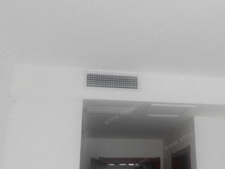 青岛万达悦公馆中央空调安装工程—三室两厅三菱重工中央空调安装案例