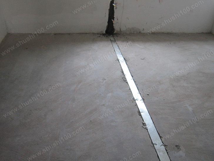 暖气片施工图 开槽安装管路