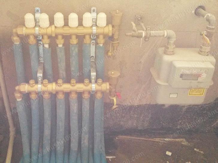 家庭采暖安装 安装分集水器