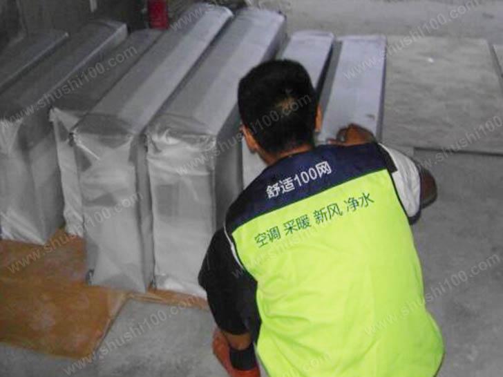中央空调材料进场 设备堆放整齐