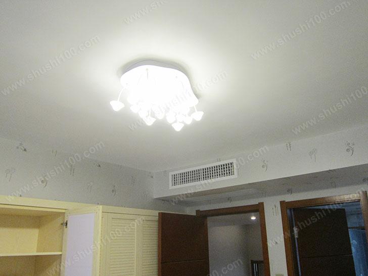中央空调效果图 与灯饰映衬