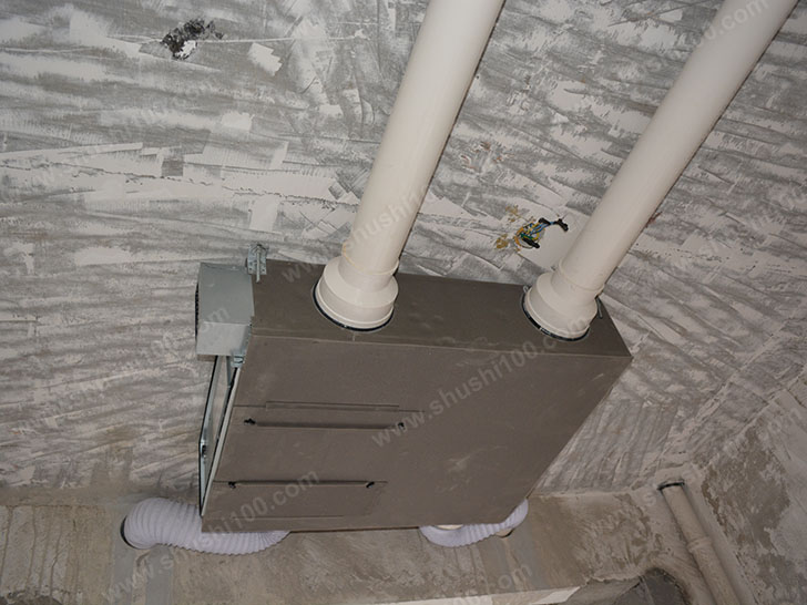 新风系统施工图 新风机安装