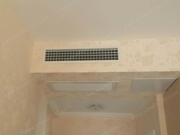 中央空调安装 侧送下回送风方式