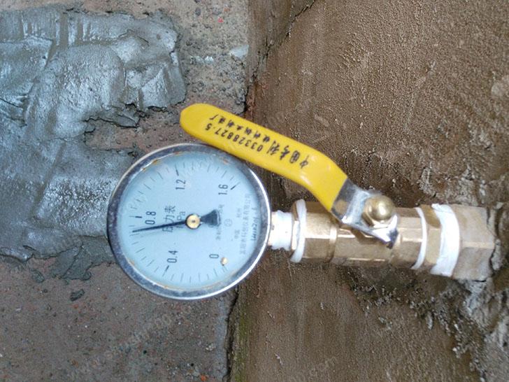 地暖施工图 安装压力阀