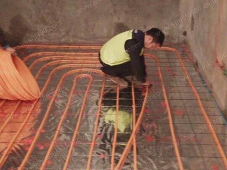 地暖施工图 铺设舒适100专用地暖管
