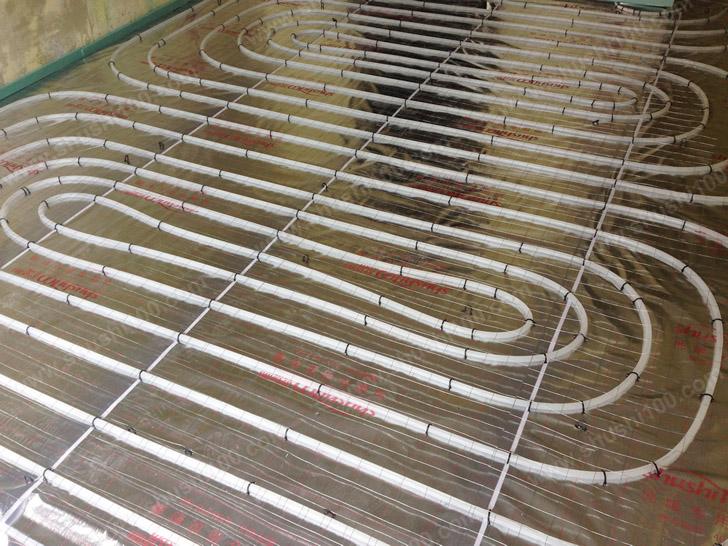 地暖施工图 地暖管铺设整齐