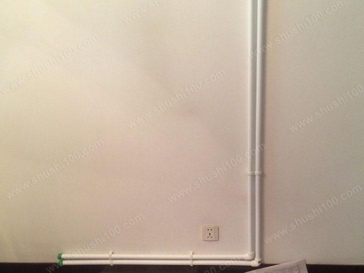 暖气片施工图 紧贴墙壁安装