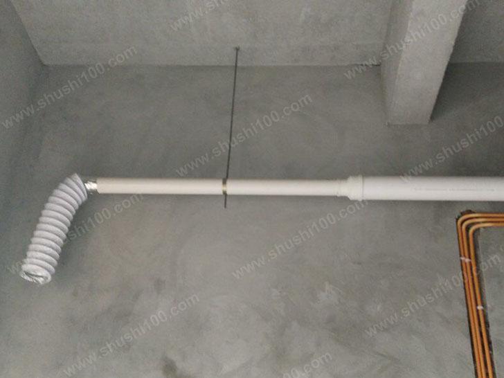 新风施工图 安装管道