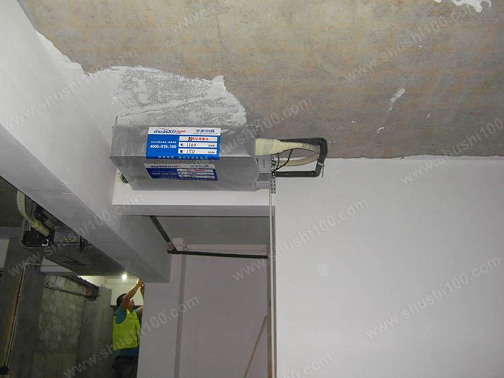 中央空调施工图 利用过道安装