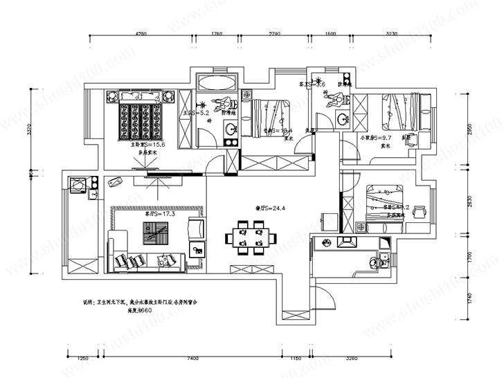 保利中央公馆户型图