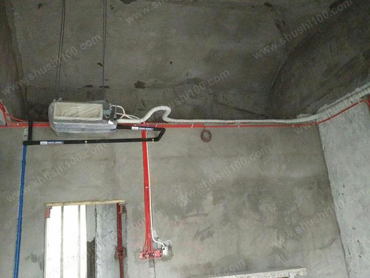 中央空调安装 走管笔直,紧贴墙壁