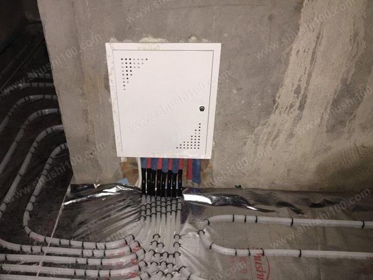 地暖施工图 分集水器连接管路