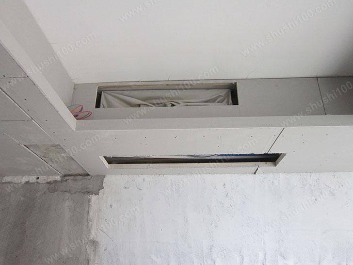 中央空调施工图 主机吊顶隐藏