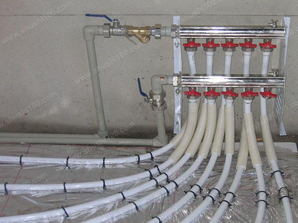地暖分集水器安装示意图