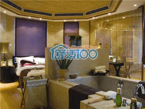 卧室中央空调安装效果图展