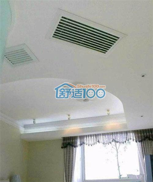 卧室中央空调出风口,采用环绕型 不规则 吊顶