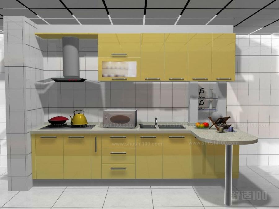 橱柜连餐桌 橱柜餐桌一体化装修方案