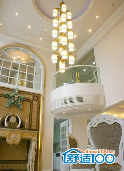 美式别墅半圆吊顶