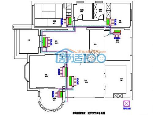碧海花园一楼中央空调设计图