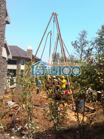 保利十二橡树地源热泵,新风,除尘,水处理,太阳能工程案例