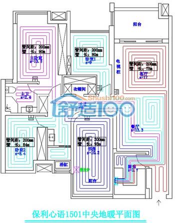 保利心语地暖专业设计图展示