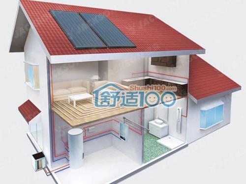 平板太阳能热水器安装图