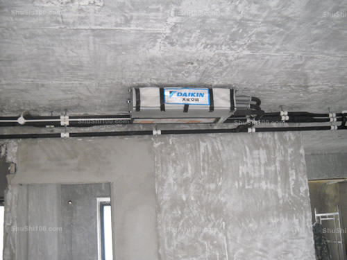 舒适100网大金中央空调安装现场