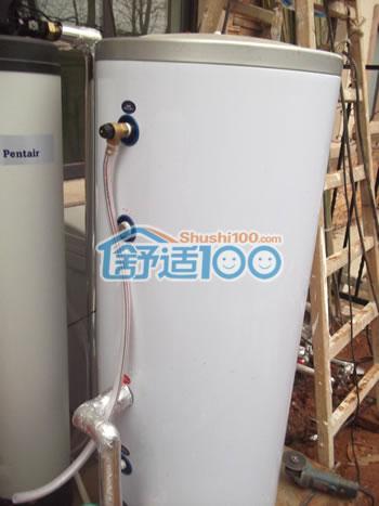 净水器安装图(左),太阳能热水器水箱(右)
