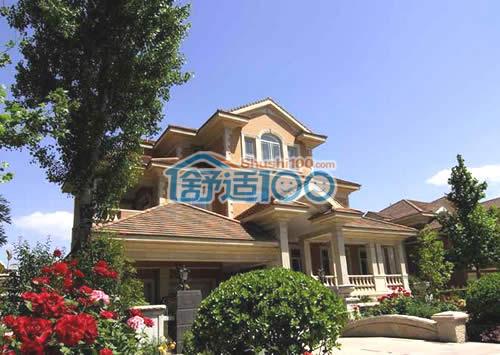 北京玫瑰园平板太阳能工程案例-为建筑能耗节省45%