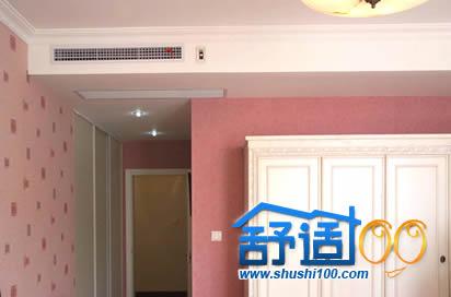 两房两厅100平米安装大金PMX系列中央空调实例