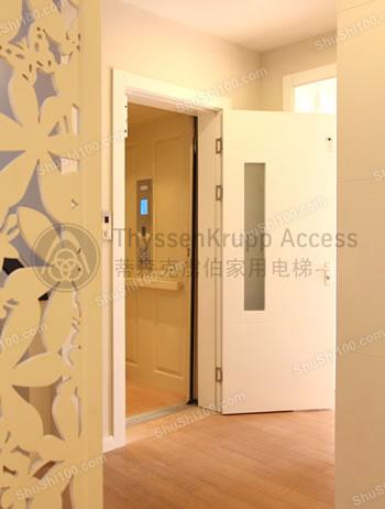 蒂森克虏伯别墅电梯安装图片-豪华至尊的家居秀