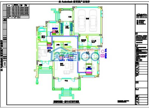 银湖湾别墅一层中央空调设计图
