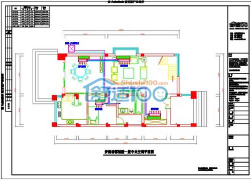 梦湖香郡一层中央空调设计图