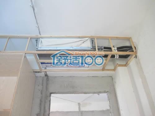卧室室内机安装,局部吊顶